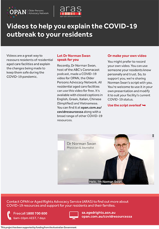 Videos to help you explain the COVID-19 outbreak to your residents